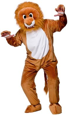 Deluxe Lion Mascot Costume for World Book Day as a Lion Fancy Dress Costume. Browse our Animal Costumes & Story Book Fancy Dress at the best online prices.