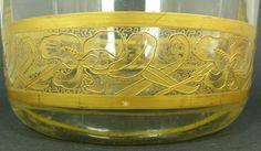 czech decorative items | MOSER CZECH GLASS VASE WITH GOLD DECOR : Lot 216