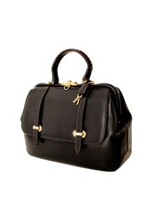 1960 DOCTOR BAG navy blue leather lock and key