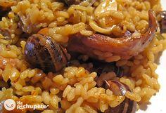 Arroz con conejo y caracoles. Receta tradicional - Recetasderechupete.com