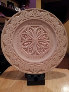 Chip carved plate