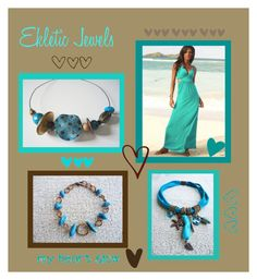"""""""sand and sea...- Ekletic Jewels"""" by sandychic on Polyvore featuring moda"""