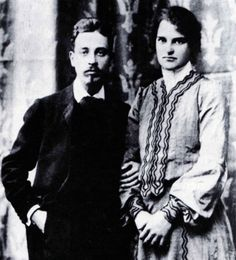Rainer Maria RILKE with his young wife, sculptress Clara WESTHOFF, whom he abandoned after 16 years of married life, Rainer Maria Rilke, Maria Callas, Paula Modersohn Becker, Tilda Swinton, Hermann Hesse, Writers And Poets, People Of Interest, Cool Books, The Orator