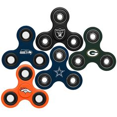 NFL Team 3 Way Diztracto Spinnerz Fidget Spinner ADHD Stress Reducer #ForeverCollectibles