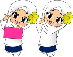 School Cartoon, Cartoon Kids, Cartoon Images, Doodle Girl, Islamic Cartoon, Anime Muslim, Hijab Cartoon, Indian Art Paintings, Art Lessons For Kids