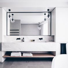 """(@corbenarchitects) on Instagram: """"Grayscale bathroom 