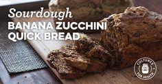 Sourdough Banana Zucchini Quick Bread