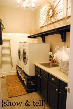 I never thought I would covet someone's laundry room until I saw this picture!