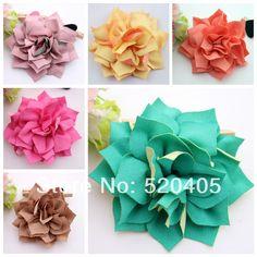 Wholesale 50PCS Hair Flowers Kanzashi Fabric Flowers 3 Inch Puff Flower  Fashion Ballerina flowers Hair Accessories