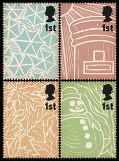 Postage stamps on British weather by  Stuart Chalmers