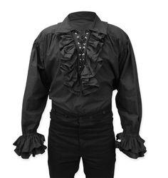 Bartholomew Cotton Shirt - Black