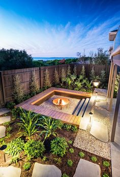 Rain and snow are going to play a huge part in your yard landscaping decisions. For example you will have to plan for your yard landscaping with care. These yard lan Small Backyard Landscaping, Fire Pit Backyard, Backyard Patio, Landscaping Ideas, Backyard Ideas, Backyard Designs, Steep Backyard, Desert Backyard, Luxury Landscaping