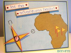 A custom handmade travel-themed card for customer whose family member was traveling to Africa this summer for a safari exploration! Birthday card for family friend's 25th birthday! There are …