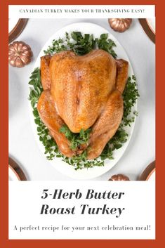 October is Canadian Turkey Month. Get prepared with great recipes, tips and tricks from the turkey experts! Big Meals, Family Meals, Turkey Prep, Whole Turkey Recipes, Perfect Turkey, Turkey Broth, Turkey Sandwiches, Herb Butter, Leftover Turkey
