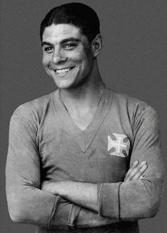 Lisbon's 3rd soccer team - the Belenenses circa 1946. He certainly could give Ronaldo a run for his money in the looks department!