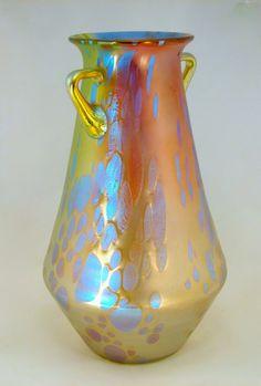 Art Nouveau Phenomen Genre 299 Tricolor Vase (c.1900) by Loetz, Austria