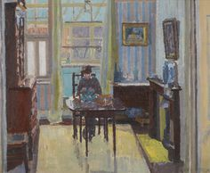 ◇ Artful Interiors ◇ paintings of beautiful rooms - Spencer Gore (British, 1878-1914), Interior of a room at 6 Cambrian Road, Richmond, 1914.