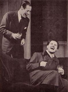 "Rex Harrison and Anton Walbrook. ""Design For Living"" The Theatre Royal Haymarket, London,1939."