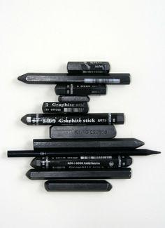 black graphite via aprilandmaystudio.blogspot.com.au