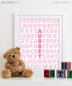 Bébé fille Nursery décor filles pépinière Art par DallowayPlace