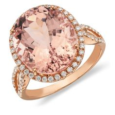 Morganite and diamond ring in 14k rose gold via @Shannon Bellanca Kendall @ Red Queen Miscellanea Nile #rose #gold