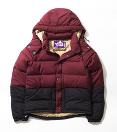Vertical Down Jacket North Face purple label