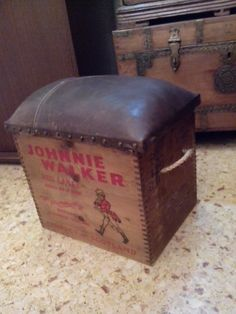 Upcycled vintage crate