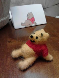 Needle felted Winnie the Pooh! 4/27/12 made by Jamie Malley