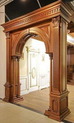 Interior Design and Home Decor Ideas Pooja Room Door Design, Door Design Interior, Interior Decorating, Interior Doors, Wooden Main Door Design, Front Door Design, House Arch Design, Wooden Arch, Wooden Doors