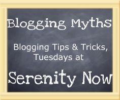 Blogging Tips & Tricks at Serenity Now: Blogging Myths