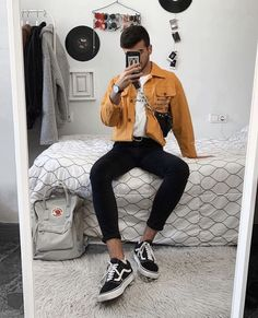 Skin Tutorial and Ideas Trendy Outfits, Boy Outfits, Cute Outfits, Fashion Outfits, Super Moda, Teenage Boy Fashion, Men Looks, Urban Fashion, Mens Fashion