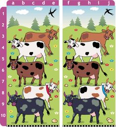 Free Find the Differences Game for Creative Writing Worksheets, 2nd Grade Math Worksheets, Kindergarten Worksheets, Worksheets For Kids, Activities For Kids, Teacher Worksheets, Preschool Education, Kindergarten Teachers, Preschool Farm