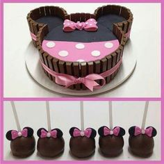 Kit kat cake minnie