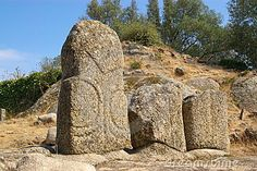 Menhirs of Filitosa in Corsica by Xdrew, via Dreamstime