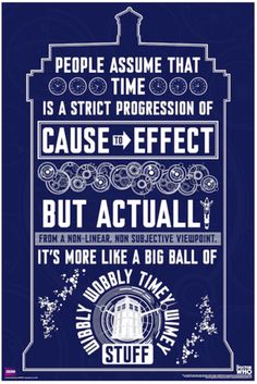 Doctor Who Wibbly Wobbly Poster - TshirtNow.net