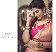 Braid with fresh jasmine flowers. Kerala Bride, Hindu Bride, South Indian Weddings, South Indian Bride, Bridal Fashion, Women's Fashion, Marriage Stills, Hindu Wedding Ceremony, Preparing For Marriage