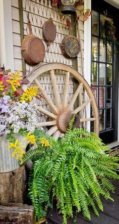 Romantic Fall Porch Decorations