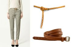 knotted belt with skinny trousers