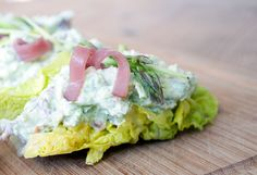 Salatbåde med Aspargespuré