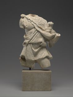 Statue of an old shepherd carrying a lamb 2nd-4th century AD. Marble. Culture: Roman, after a Greek original. | Copyright © 2015 The Yale University Art Gallery