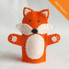 This is a PDF pattern for a fox finger puppet. The pattern contains step-by-step instructions and illustrations to show you how to complete your