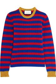 GucciStriped cashmere and wool-blend sweater