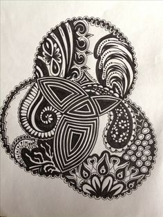My Zentangle Doodle (comment from previous pinner a beautiful doodle!)