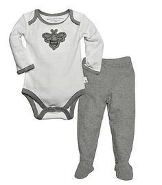 Bee Bodysuit & Pant Set : Color - Cloud