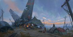 ArtStation - Desert Camp, Jeremy Fenske