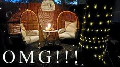 Outdoor Patio Rooms, Backyard Makeover, Decorating On A Budget, Hanging Chair, Wicker, Budgeting, Amazing, Diy, Youtube
