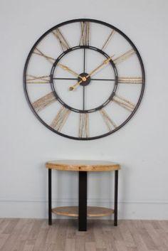 Thomas - Extra Large Black & Gold Iron Skeleton Wall Clock