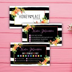 Honey and Lace Business Card Custom Honey & Lace Business