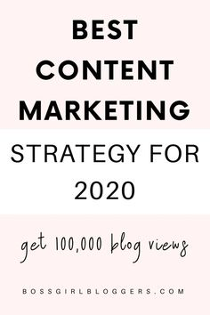 Best 2020 content marketing strategy for bloggers. How to grow your blog traffic and get your first 100,000 blog views with this content marketing strategy. #growyourblog #blogtraffictips #howtogrowyourblog #bloggingforbeginners Online Marketing Strategies, Digital Marketing Strategy, Business Marketing, Social Media Marketing, Sales Strategy, Inbound Marketing, Social Networks, Email Marketing, Business Tips