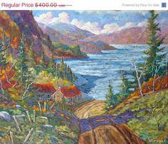 Summer Sale Down to the Lake Original Large Oil by PrankePaintings